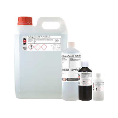 Hydrogen Peroxide 3% FOOD GRADE - Multi pack Listing 250ml,500ml,1 Litre, 2Litre
