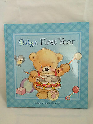 Baby's First Year Book Baby Shower Blue Yellow Journal Memories Treasures smile