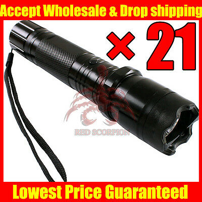(21) Red Scorpion Metal Police Led Stun Gun 1101 -260 Million Volt Wholesale Lot