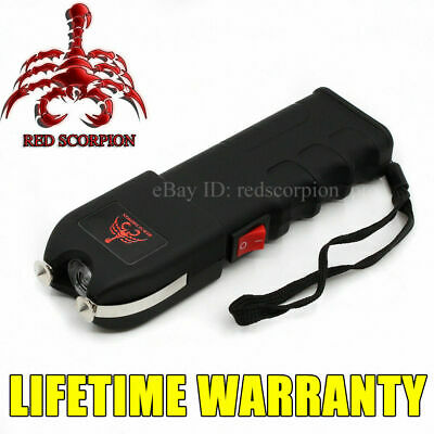 (4) Red Scorpion Heavy Duty Metal Flashlight Stun Gun 1101 -260 MV Wholesale Lot
