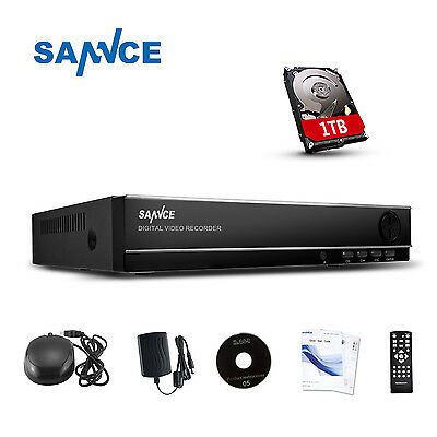 SANNCE 8CH 960H CCTV 1TB Sicherheit DVR H.264 Video Recorder Überwachungssystem