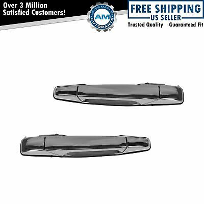 Chrome Outer Outside Rear Exterior Door Handle Pair for Chevy Pickup Truck SUV