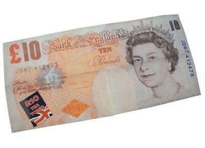 £10 Ten Pound Bank Note Money Design Novelty Gift Kitchen Tea Towel 34 X 70cm