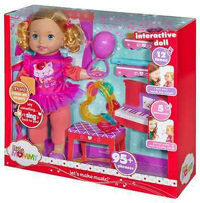 Little Mommy Let's Make Music interactive  Doll 95 Phrases 5 Instruments New