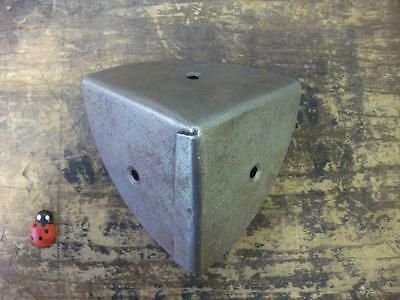 pair of steel corner protector chests - boxes - trunks  / steel