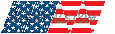 American Flag Top RWB Helmet Top 8 piece Firefighter Reflective Decal Sticker