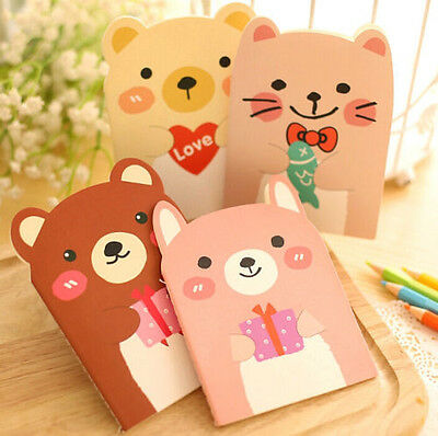 FD2515 Cute Cartoon Notepad Memo Paper Diary Notebook Exercise Schedule Book 1pc