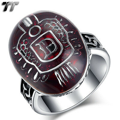 High Quality TT 316L Stainless Steel Blood Vampire Ring Size 7-13 (RZ117) NEW