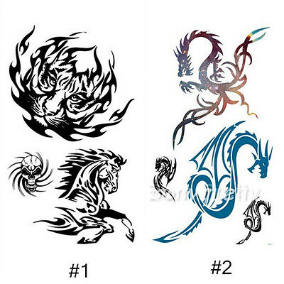 Dragon Tiger Horse Waterproof Tattoo Temporary Removable Tattoo Stickers