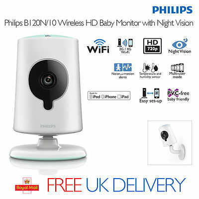 Philips Wireless HD Baby Monitor Wi-Fi Video Home CCTV Camera View on Phone