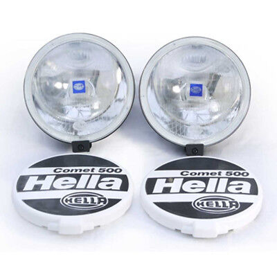 HELLA COMET 500 Lamp Set 2 Lamps Covers And Fitting Kit