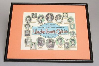 """Antique Carl Laemmle's UNCLE TOM'S CABIN Movie Poster Flyer 1927 8"""" x 11"""" RARE!"""