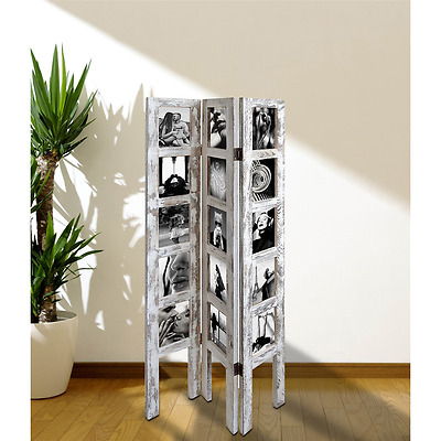 Multi Photo Frame Picture Poster Collage 15 Frames Wood White Home Decor