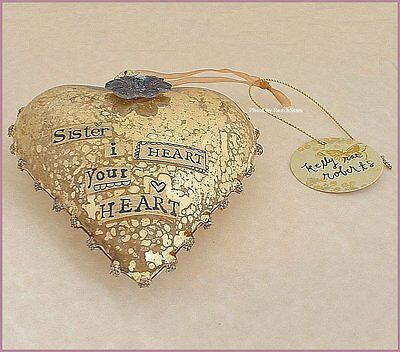 Sister Glass Heart Ornament By Kelly Rae Roberts Free U.s. Shipping
