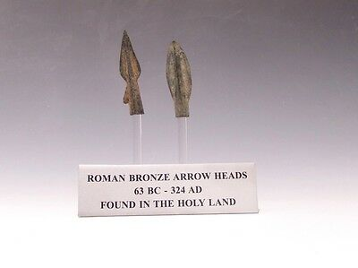 A Set Of Two Roman Bronze Arrowheads • CAD $349.92