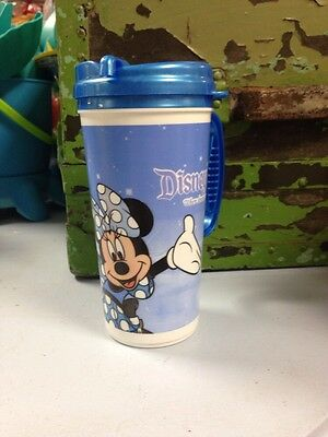 Disney Parks Vintage Travel Mug With Minnie Mouse And Castle