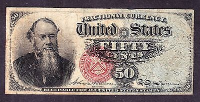 US 50c Fractional Currency Stanton 4th Issue FR 1376 VF -007