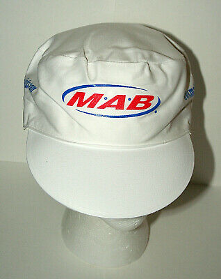 Set Of 4 2000s MAB Paint Painters White Workers Cap Hat New NOS OSFM Stretch