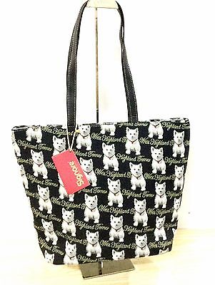 "Tapestry Signare ""West Highland Terrier"" Large Sized Dog Handbag Shoulder Bag"