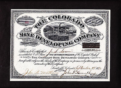 Colorado Mine Developing - Leadville 1880 - Not Cancelled