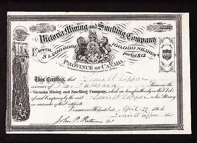 CANADA: VICTORIA MINING and SMELTING - LENNOXVILLE 1866 - NOT CANCELLED