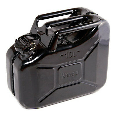 High Quality Metal Jerry Can for Petrol or Diesel Fuel Black 10L