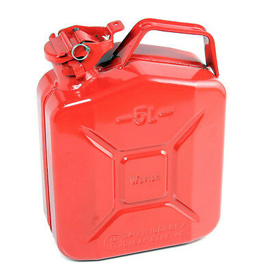 High Quality Metal Jerry Can for Petrol or Diesel Fuel Red 5L