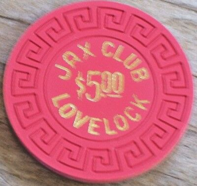 $5 1St Edt Gaming Chip From The Jax Club Casino Lovelock  Nv