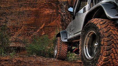 """Jeep Wrangler Truck- 42"""" x 24"""" LARGE WALL POSTER PRINT NEW."""