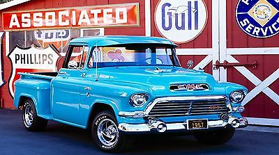 """1957 GMC Pick-up Truck 42"""" x 24"""" LARGE WALL POSTER PRINT NEW."""