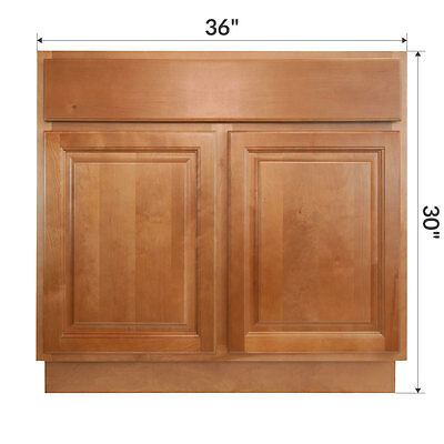 LessCare Richmond 36  Bathroom Maple Vanity Sink Base Cabinets. 36  x 21  Craftsman GOLDEN Maple Bathroom Vanity Cabinet Two Doors