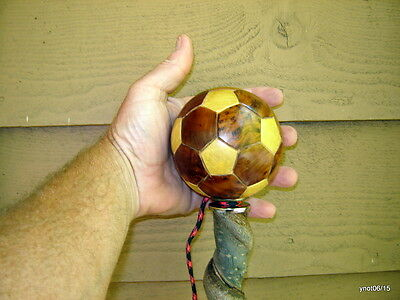 Frankin-Stick twisty Wild Cherry Cane multifaceted ball handle~real vine intact