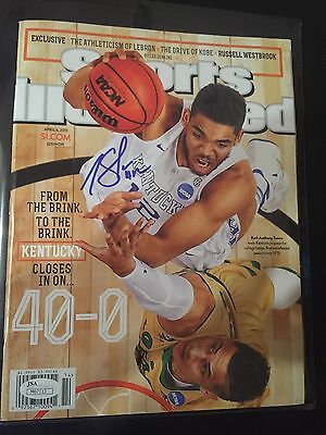 KARL-ANTHONY TOWNS SIGNED SPORTS ILLUSTRATED Kentucky Autographed  JSA