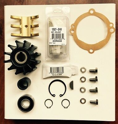 Sherwood Crusader Raw Water Pump Rebuild kit 97179 11068 20311 OEM Parts E35