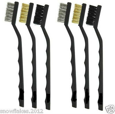 wire brush SST,BRASS,NYLON cleaning brushes lot of 6pc new
