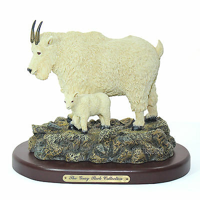 NEW The Gray Rock Collection Mountain Goat w/ baby Collectible Resin Figurine