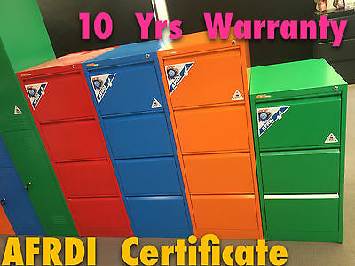 Colour Steel 4 Drawer Filing Cabinet AFRDI - Free Assembled / 10 Year Warranty