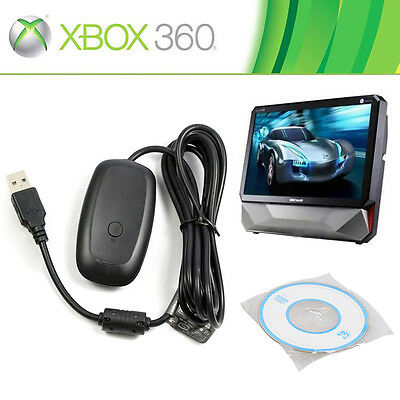 Microsoft Xbox 360 USB Wireless Receiver Game Controller Adapter for Windows PC