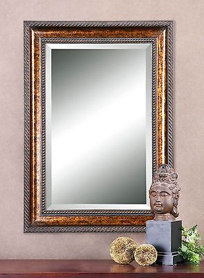 Extra Large Bronze Frame Wall Mirror   Classic Vanity