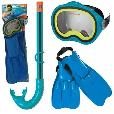 Intex Kids Master Class Swim 3In1 Set Mask Fins Snorkel Swimming Snorkeling Gear