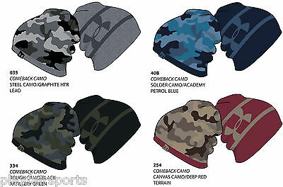 *New For 2015* Under Armour Gents Golf UA 2-Way Camo Thermal Reversible Beanie