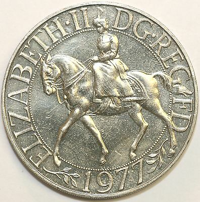 1977 Commemorative Crown Silver Jubilee Extremely Fine Condition