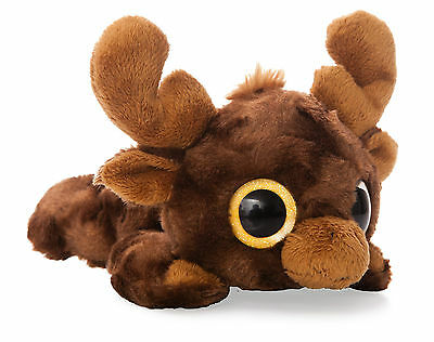 """YooHoo and Friends 7"""" Lying Montee Moose Cuddly Soft Toy Plush by Aurora 73928"""