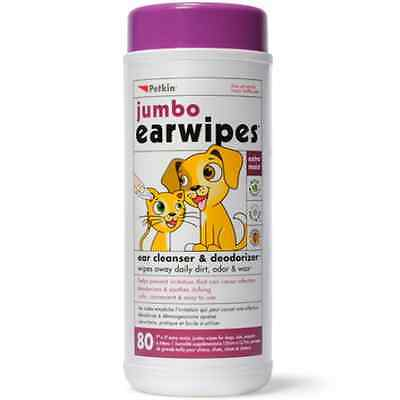 Petkin Jumbo Ear wipes 05322
