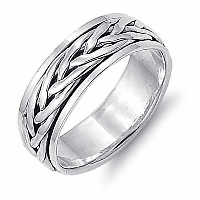 Braid Rope Design Sterling Silver Spinner Band Ring