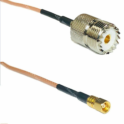 USA-CA RFC400 PL259 UHF MALE to SO239 UHF FEMALE Coaxial RF Pigtail Cable