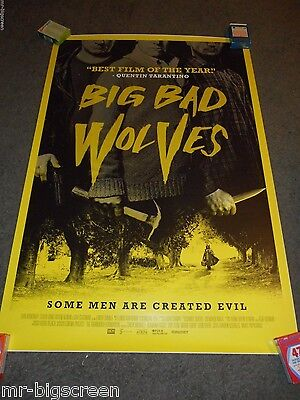 Big Bad Wolves - Original Rolled Ds Poster - 2013