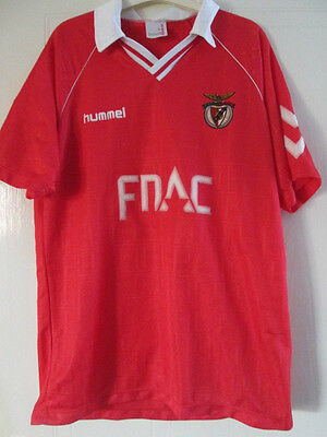 Benfica 1989-1990 Home Football Shirt Size XL /39259 Please READ portugal