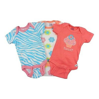 "Gerber Baby Girl 3-Piece Pink /""Love/"" Onesies Size 3-9M BABY CLOTHES SHOWER GIFT"