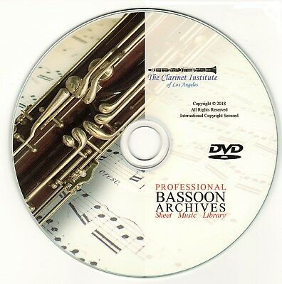PROFESSIONAL BASSOON SHEET MUSIC Archive DVD PDF
